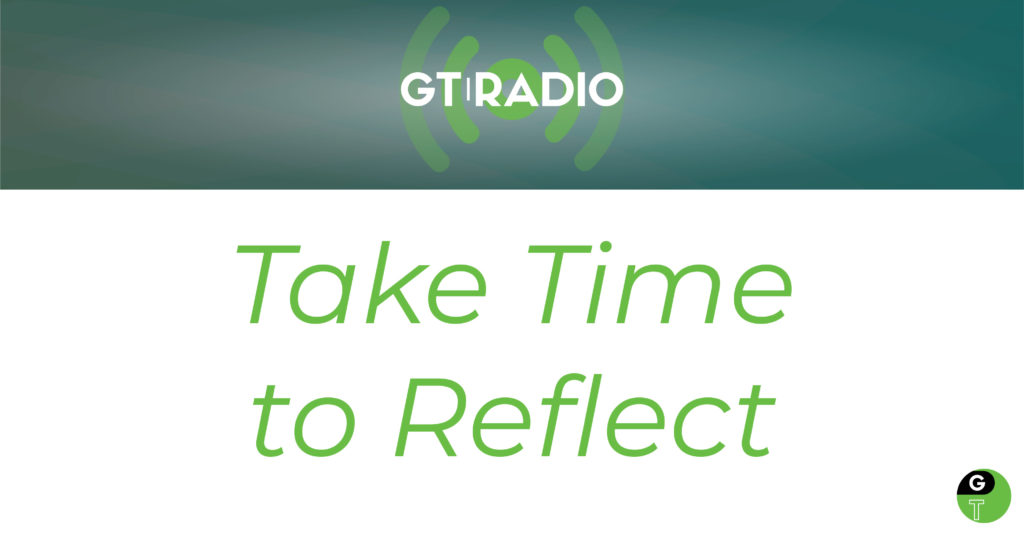 take time to reflect geek therapy